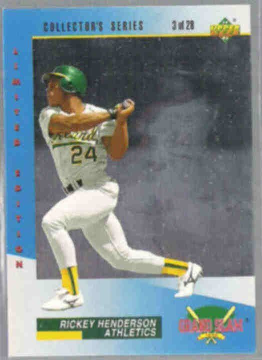 Oakland A'S Rickey Henderson 1993 UD Grand by ALEXLITTLETHINGS