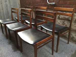 6 danish rosewood dining chairs mid century modern not for Modern dining chairs toronto