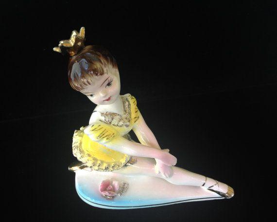 Vintage Ballerina Figurine Pretty Ballet by LadyLuckVintageShop