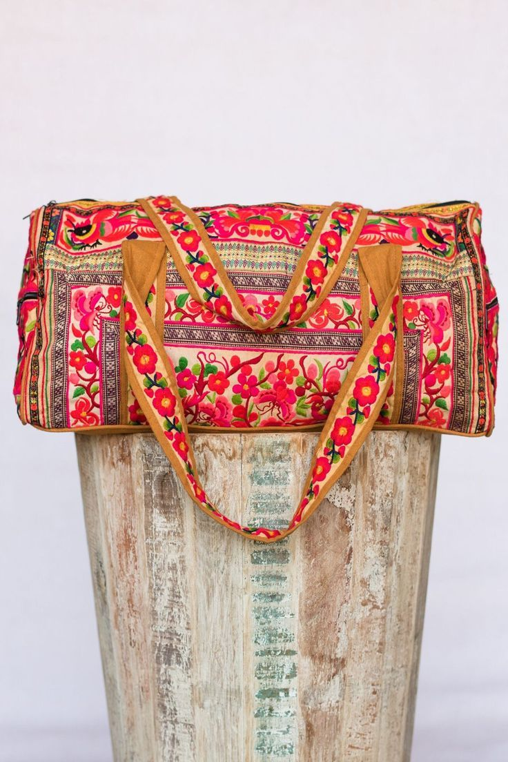 Bohemian travel necessities Gemini Embellished Duffle Bag
