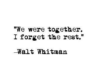 Love quote retro typewriter literary print romance wedding marriage valentine's day anniversary engagement gift literature Walt Whitman