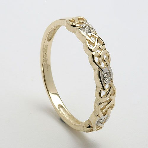 Sibeal Ladies Celtic Diamond Ring (C-756) - Celtic Wedding Rings. (I am in looooove with this band!)