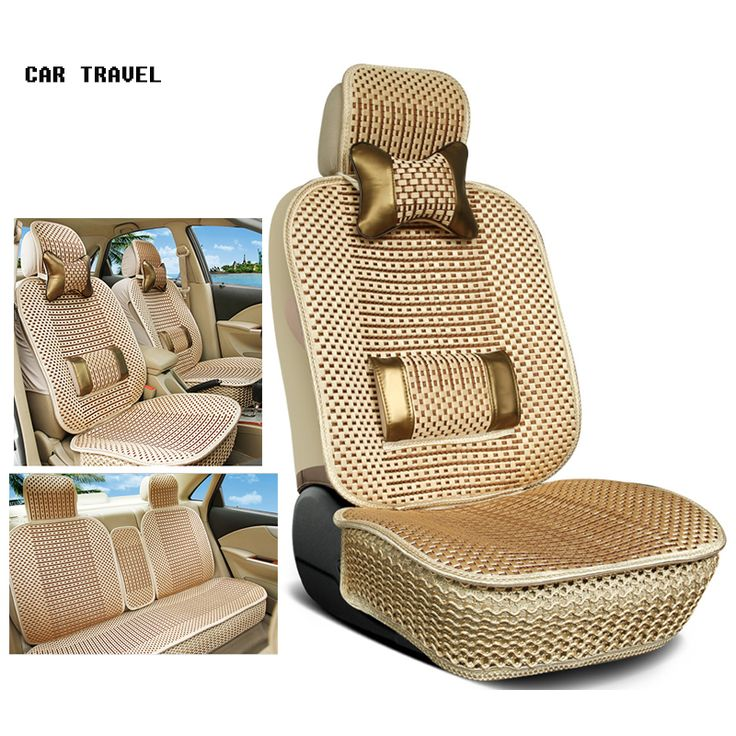 Cheap luxury car seat cushion, Buy Quality car seat cushion directly from China luxury car seats Suppliers: Luxury Car Seat Cushion Hand-woven Ice Silk with Wood Beads Car Seat Cover Summer Front&Rear 5 Seat Universal Car Seat Cushion