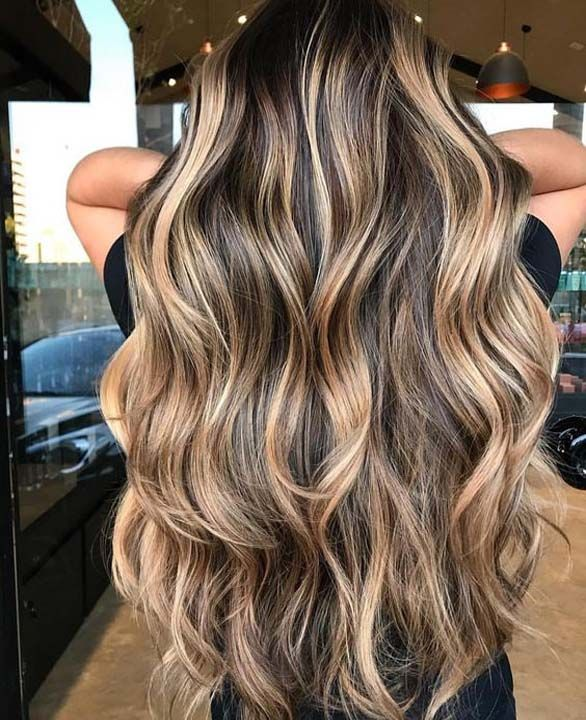 beautiful hairstyle and hair color