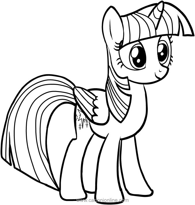 Twilight Sparkle With Wings Coloring Pages My Little Pony Printable My Little Pony Coloring Dragon Coloring Page