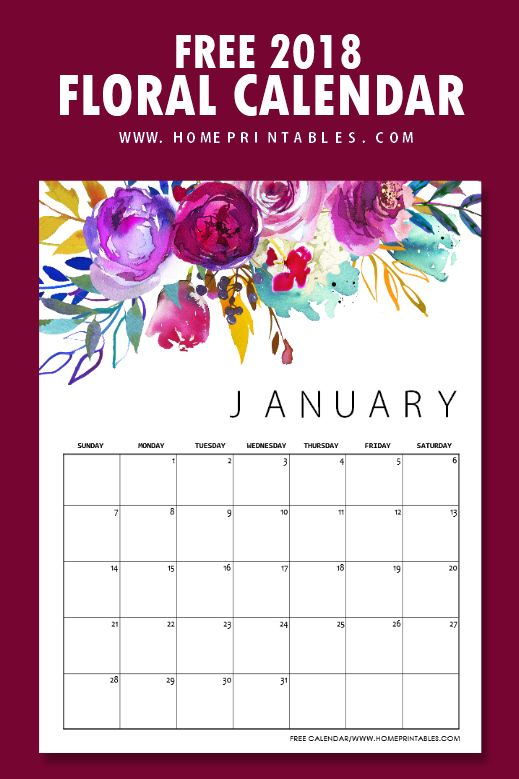 This 2018 calendar truly prints out as gorgeous as it looks! And... it's FREE!!! Also included is a Weekly Planner Page. I only wish this motif came in EVERYTHING <3 Kudos, homeprintables.com free printable calendar 2018