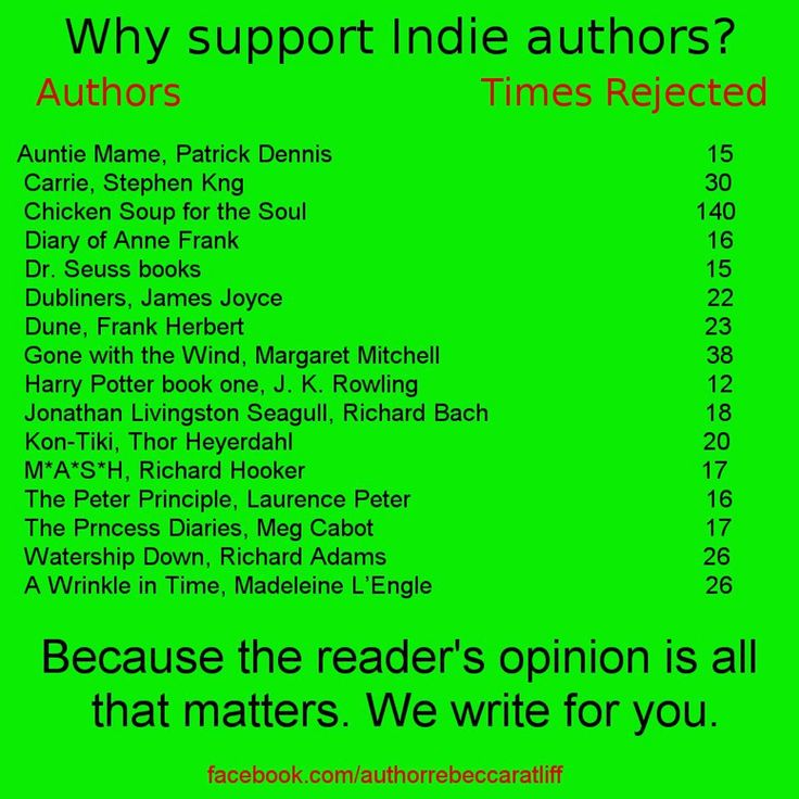 The Indie Writer Rejection Meme One of the best articles I've ever read about Indie vs. Traditional