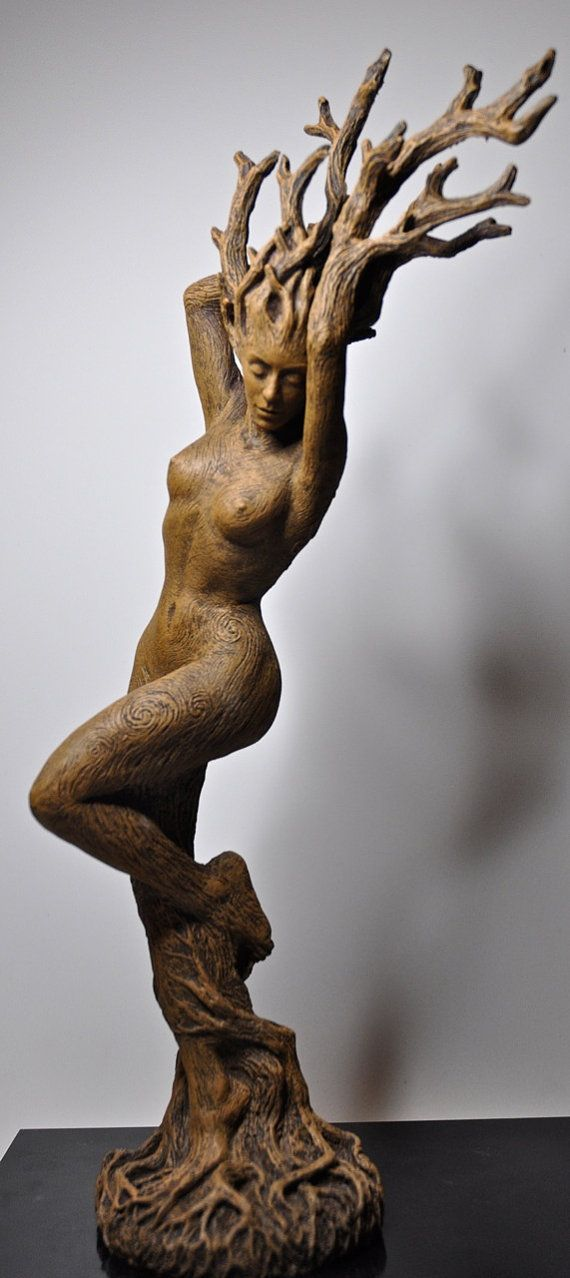 "Dryad Statue- something along the lines of ""rooted in tradition"""