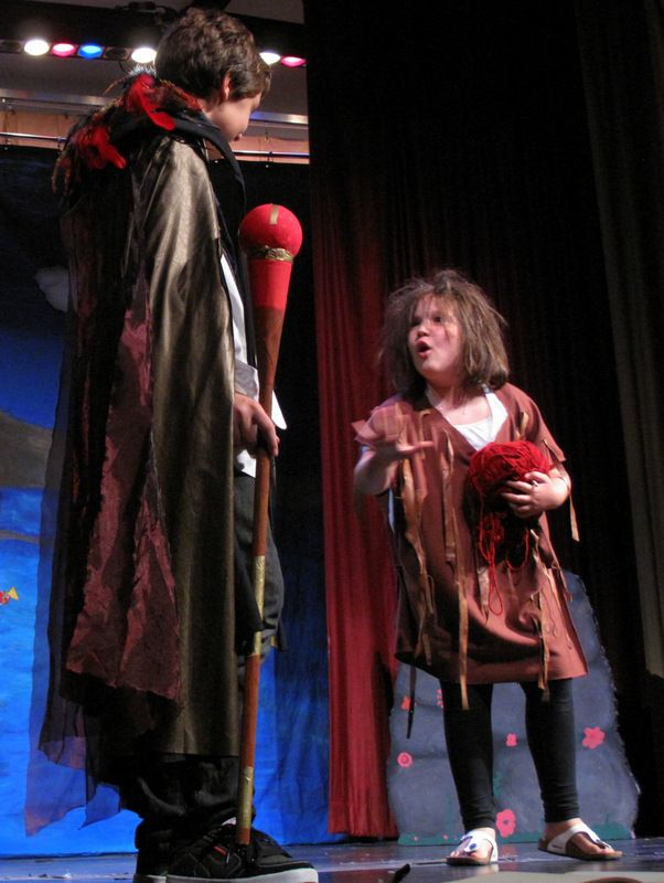 "#Caliban (right) challenges #Prospero ""This island's mine, by Sycorax my mother…"" -Summer Camp 2013 #TheTempest #Shakespeare #Kids #SummerCamp #Camp #Acting Camp #DramaCamp #Toronto #Kids #Children #Youth #Education"