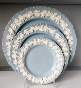 Wedgwood Queensware Embossed Blue (my parents wedding china) : wedgwood china dinnerware - pezcame.com