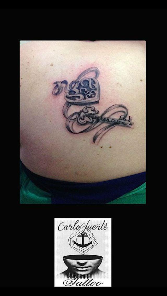 Realistic tattoo # padlock tattoo #heart tattoo #key tattoo # tattoo idea