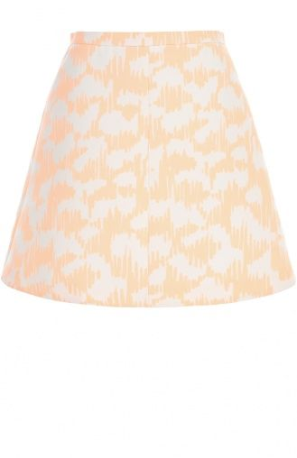 Женская оранжевая мини-юбка с принтом Balenciaga, сезон SS 2015, арт. 373166/TMA19 купить в ЦУМ | Фото №1