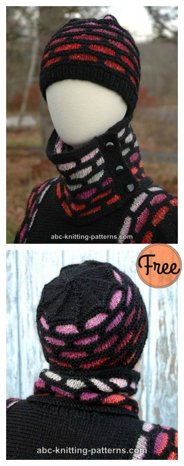 Brick Road Hat Free Knitting Pattern