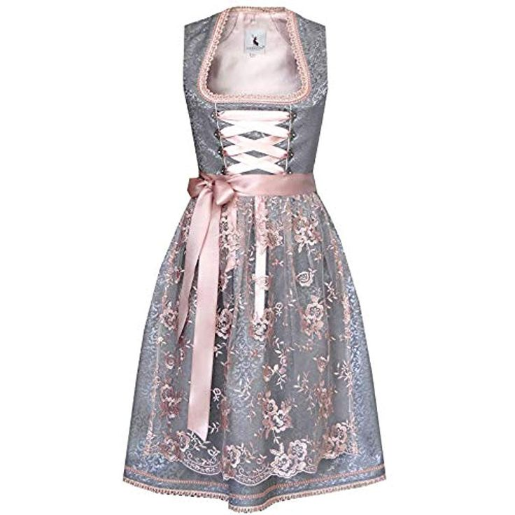 Alpenmarchen Midi Dirndl from Exclusive Collection incl. Lace Apron size 32-54 – ALM566 #Clothing #Women #Streetwear # Shirts-Blouses