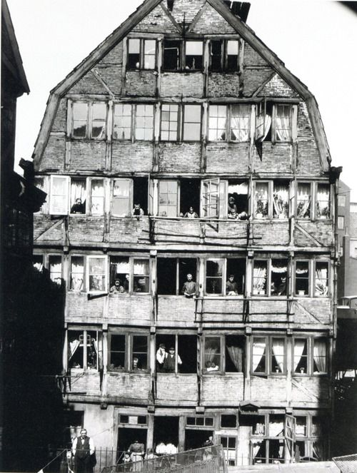 House and people living in it in Hamburg, Germany c1904 Photograph by Hans Breuer