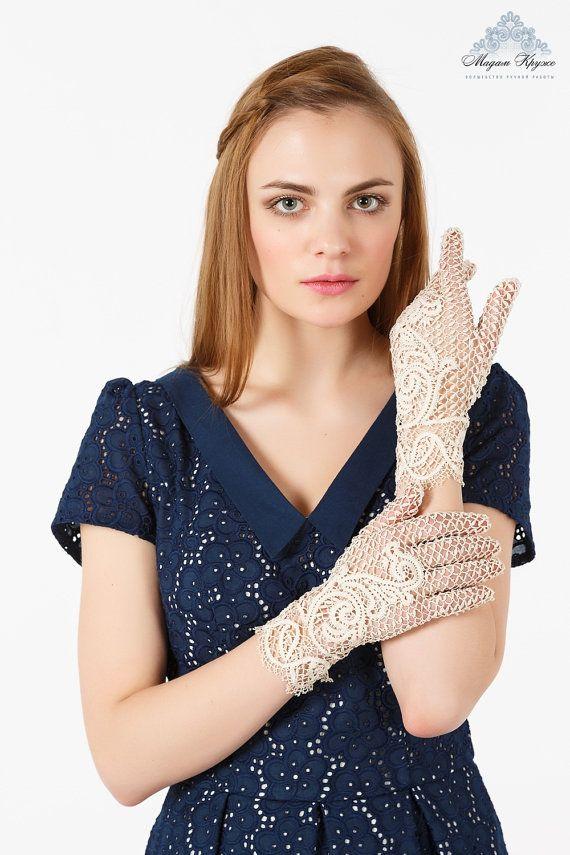 Кружевные перчатки Аристократка кружево ручной от MadamKruje