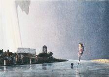 1703/612 - Poul Anker Bech: Komposition. Sign. Poul Anker Bech, 136/250. Litografi i farver. Bladstørrelse 51 x 68. Uindrammet.