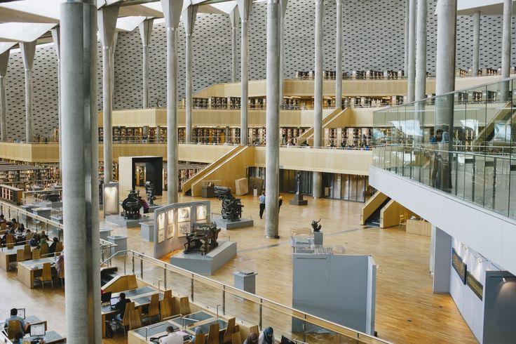 Las mejores bibliotecas de alrededor del mundo - Biblioteca Alexandrina