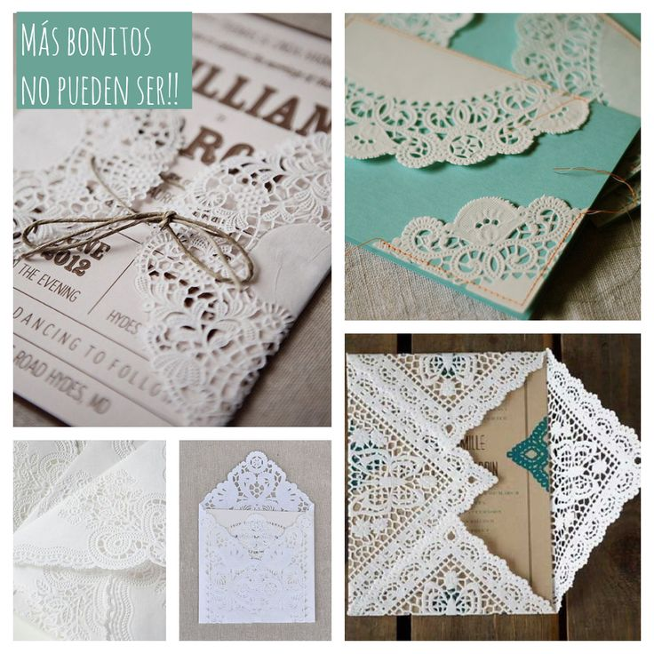Envelopes made of doilies