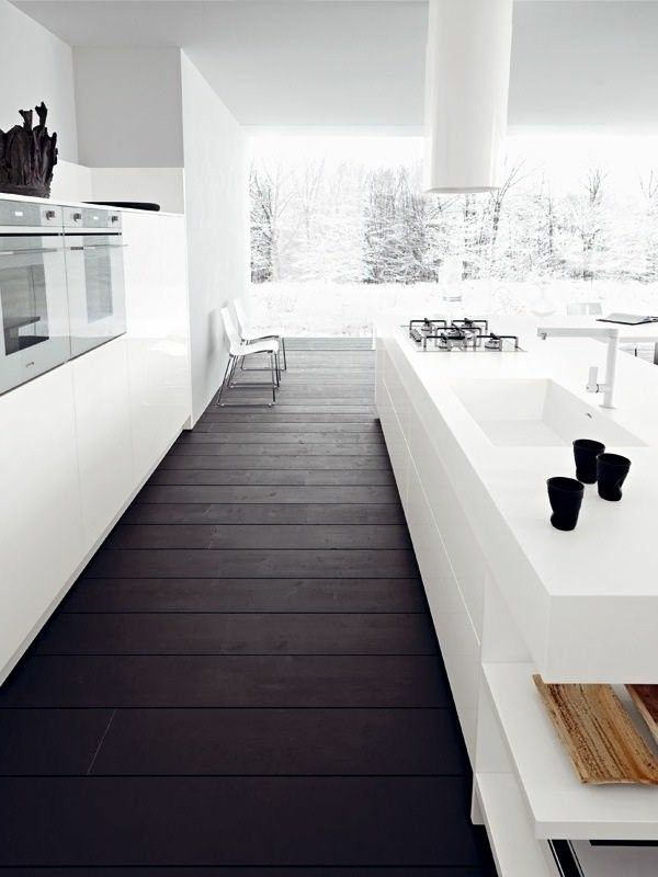 Modern White Kitchens With Dark Wood Floors 13 best floor - gÓlf images on pinterest | flooring ideas, black