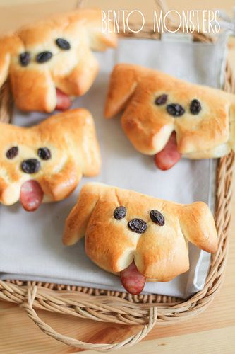 Doggy Sausage Bread Bun | Bento Monsters