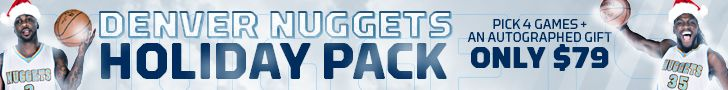 Denver Nuggets NBA offer fans special gifts when you buy a ticket pack.