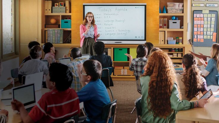 Interactive whiteboards, like the smart board, can be used to create an interactive lesson where students and the teacher can proceede through the lesson together.  Please see https://www.youtube.com/watch?v=o7Odm3ttvQE for an excellent example of how to use this technology.