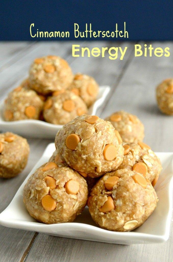 {No Bake} Cinnamon Butterscotch Energy Bites