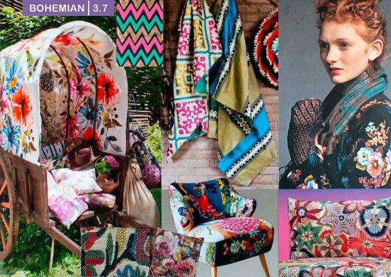 Bohemian Fashion Mood Board on Ket Interior Design Trends 2016