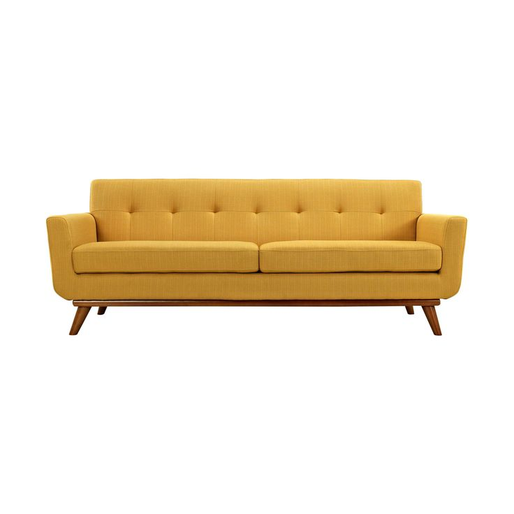 Spiers Sofa in Mustard - Unique Modern Furniture - Dot & Bo