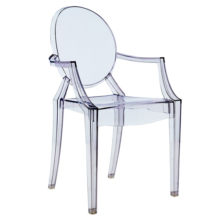 One of my favorite things! I am enthralled and infatuated with the way that they look with a vintage rustic table :)  Louis Ghost Chair for Kartell / designed by Philippe Starck