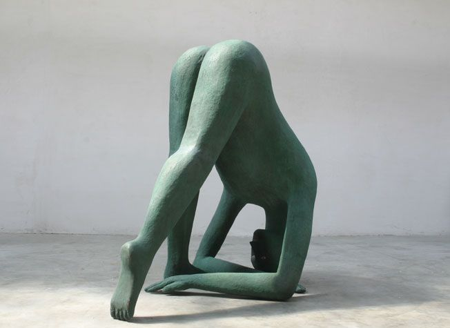 Henk Visch - Teach me to sit still (2006), 210cm | henkvisch.nl