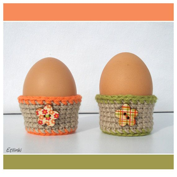 60 best cool crochet gifts etilinki images on pinterest greeting egg cups set of 2 easter egg cozy crochet egg cosy decor easter table decoration spring decor hostess gifts easter baskets negle Images