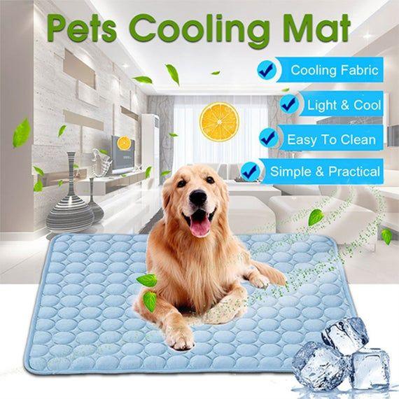 Pet Soft Summer Cooling Mats Blanket Pet Dog Self Cooling Mat Pad Summer Car Seat Ice Silk Mat Pet C Dog Cooling Mat Pet Cooling Mat Dog Pet Beds