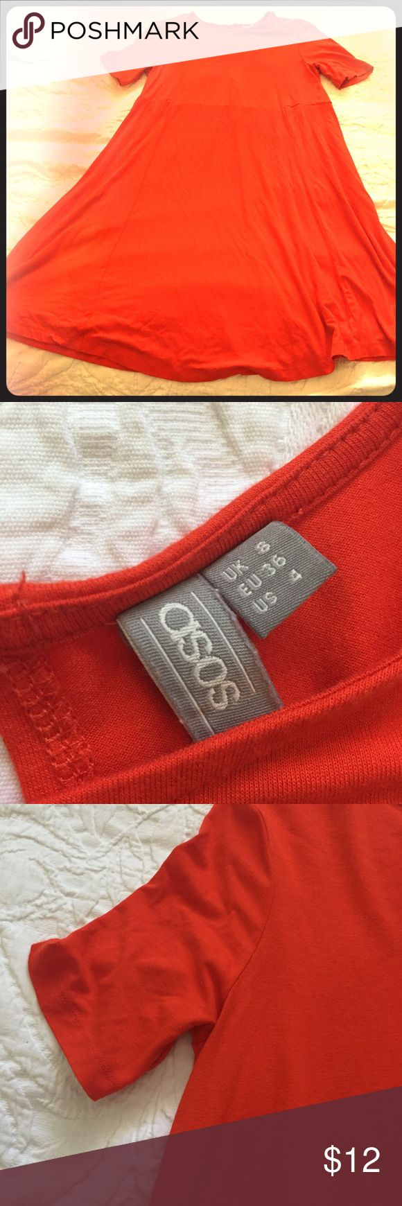 ASOS blood orange maternity dress Very comfy, cute, great color for any time of year! ASOS Dresses Midi