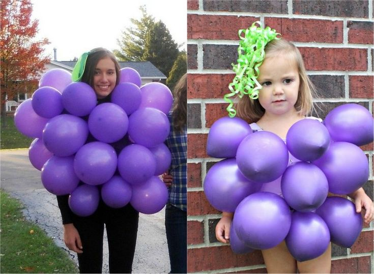 Fasching Kostüme last-minute-weinbeeren-luftballons