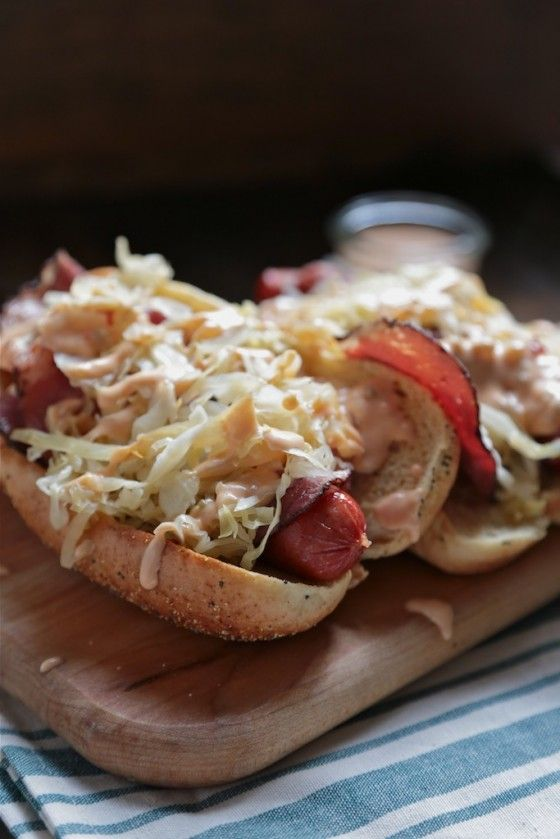 I mean, really! Help me! Reuben Hot Dog - Country Cleaver