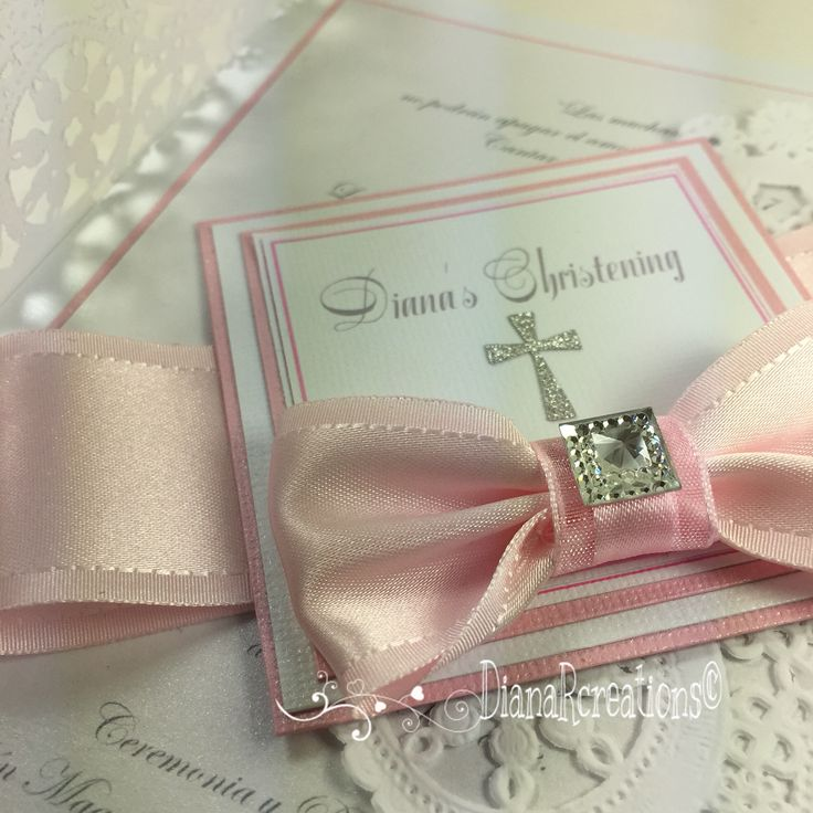 Beautiful Christening Invitation for a girl dianarcreations
