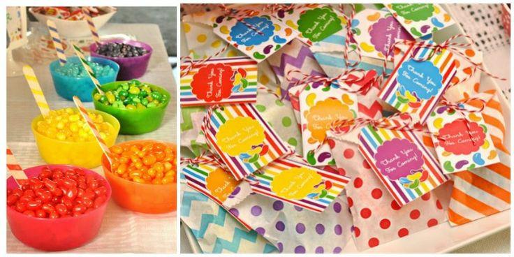 Kleine Gastgeschenke - Idee mit Jelly Beans Tüten