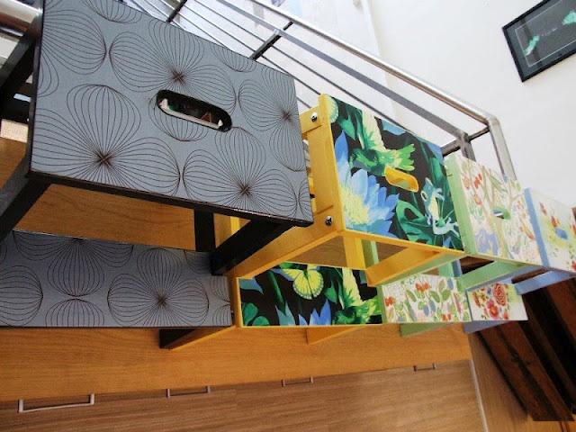 Bekvam stool + WallpaperFor Kids, Step Stools, Kids Room, Ikea Hacks, Ikea Stools, Ikea Hackers, Bekvam Stools, Step Up, Kitchens Stools
