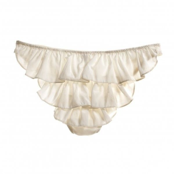 Letters of Marque Noir Silk Cotton Stretch Ruffle panty ($48) ❤ liked on Polyvore featuring intimates, panties, lingerie, underwear, undies, women, panties lingerie, ruffle panty, bikini lingerie и frilly lingerie