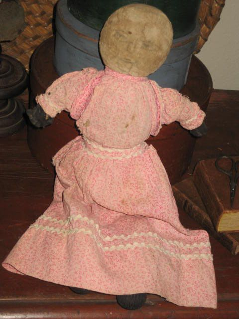 Early Rag Doll with pink calico dress.......