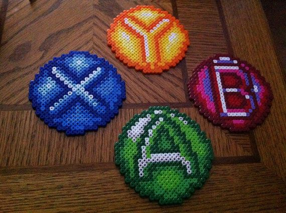 Xbox 360 Controller Perler Bead Coasters by OtakuBeadsmith on Etsy,