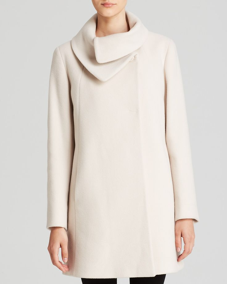 Loving a sculptural neckline on everything from coats to blouses this season. (Cinzia Rocca Coat - Due Envelope Collar | Bloomingdale's)