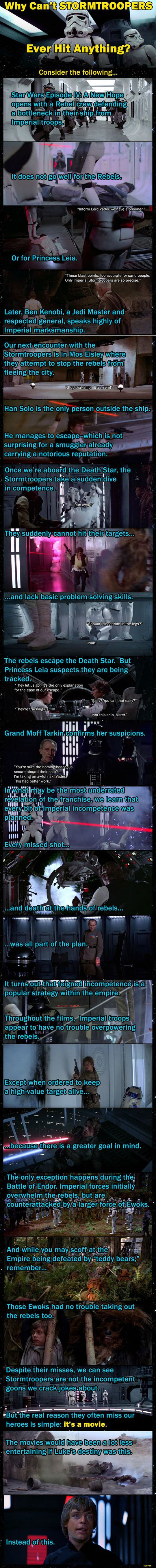 Why Stormtroopers Always Miss In The Old Movies Star Wars