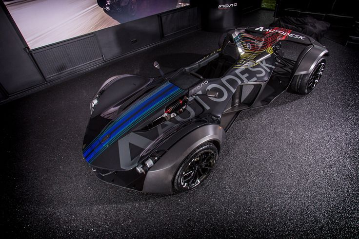 BAC builds mono single-seater art car in collaboration with autodesk