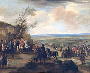 Date 	11 July 1708 Location 	near Oudenaarde, present-day Belgium	Grand Alliance victory[1]   Great Britain  Dutch Republic  Austria  Prussia 	 France Commanders and leaders Kingdom of Great Britain Duke of Marlborough Habsburg Monarchy Prince Eugene of Savoy Dutch Republic Henry de Nassau, Lord Overkirk 	Kingdom of France Louis, duc de Bourgogne Kingdom of France Duc de Vendôme Strength 105,000 	100,000 Casualties and losses 3,000 dead and wounded 	7,000 dead and wounded, 8,000 prisoners