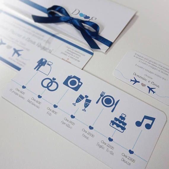 Partecipazioni Matrimonio Biglietto Aereo Con Timeline Wedding Invitations Boarding Pass Travel