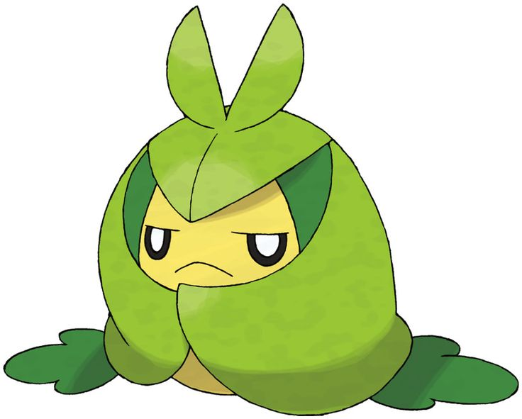 Pokédex entry for #541 Swadloon containing stats, moves ...