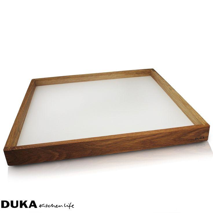 Drewniana taca 39x39cm DUKA BARA